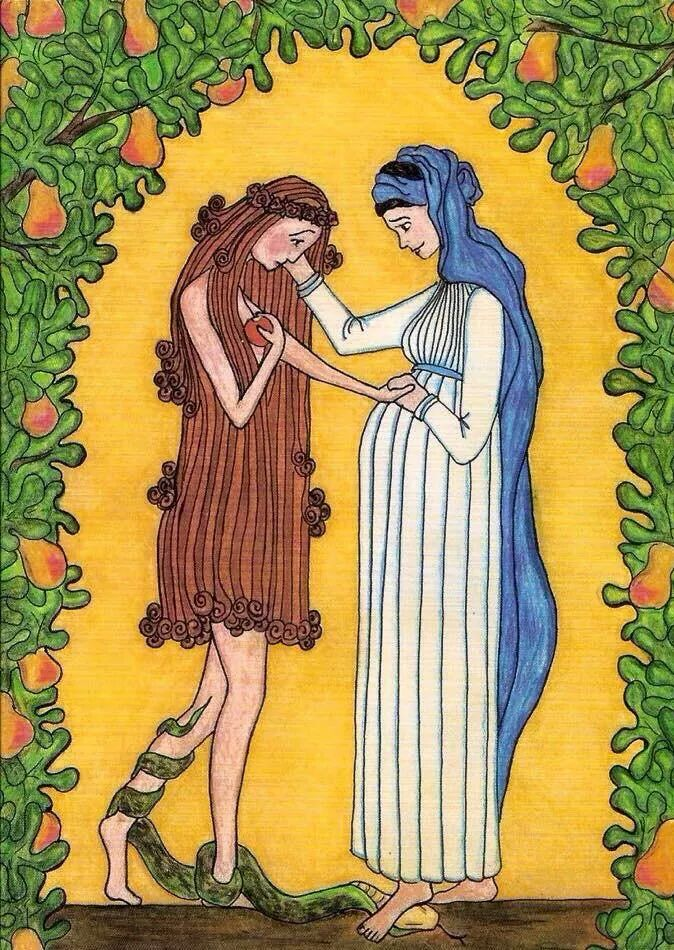 Virgin Mary Consoles Eve