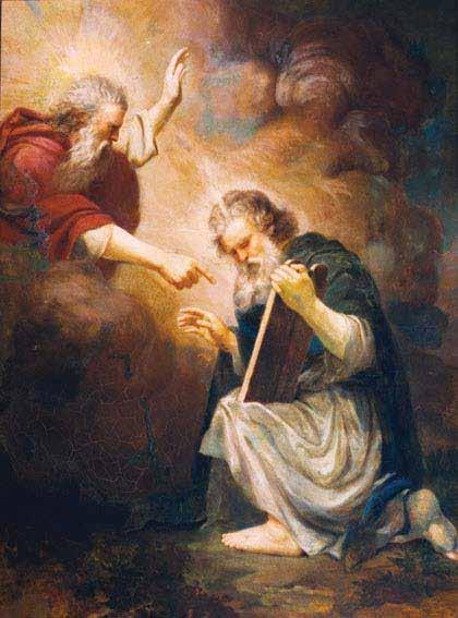 Moisés Recebendo as Tábuas da Lei