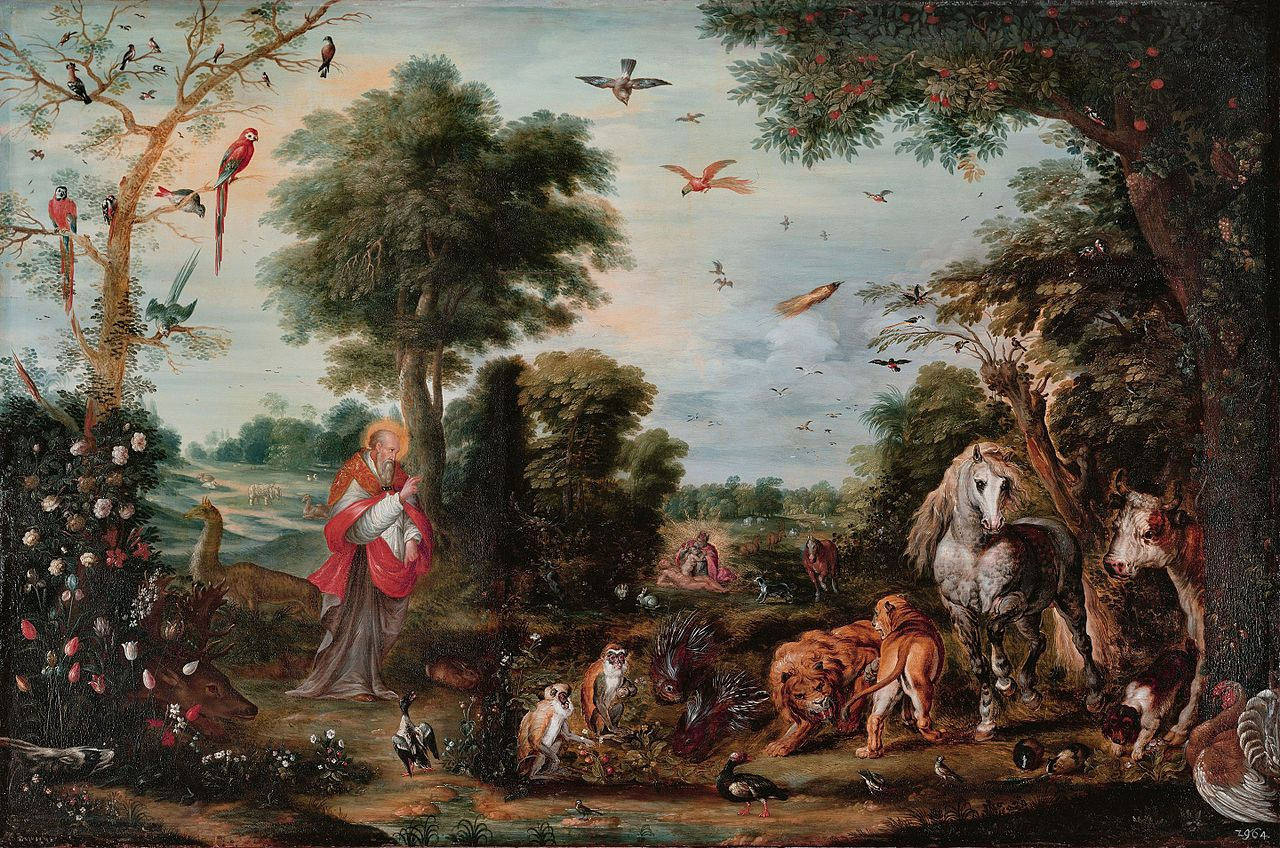Paradise Landscape with the Creation of the Animals