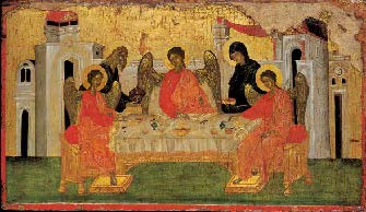 The Hospitality of Abraham Icon