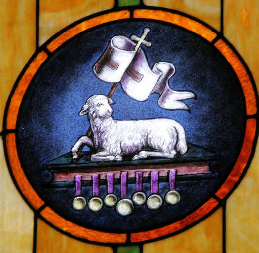 The Lamb of God Stained-Glass Window