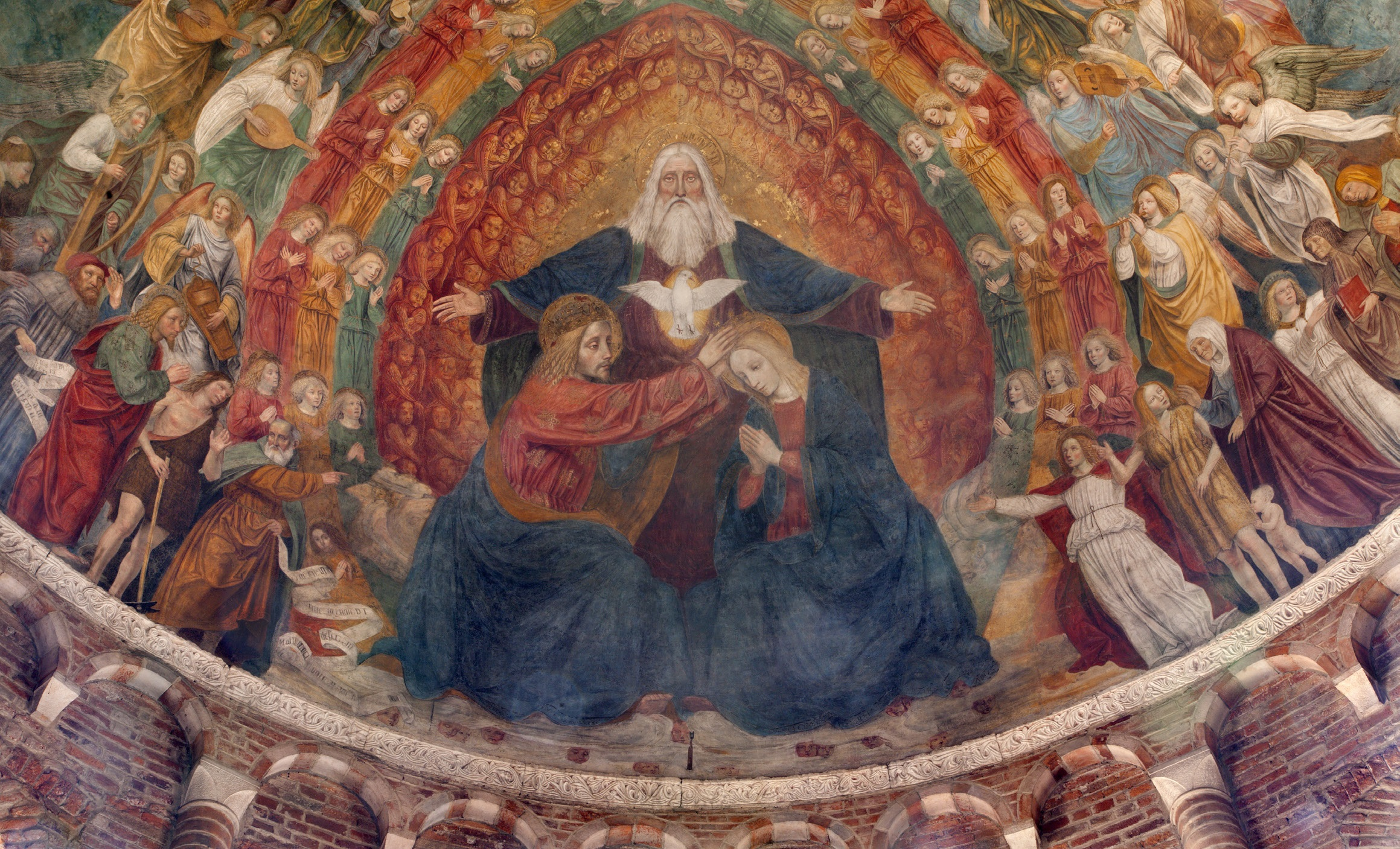 Trinity and Coronation of Mary Mural