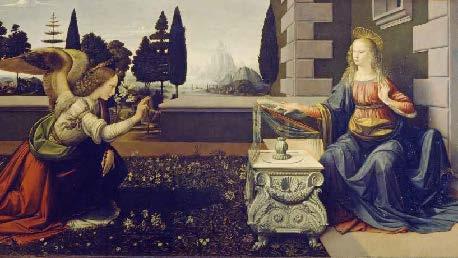 Annunciation_by_Da_Vinci