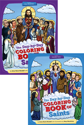 Day-by-Day Coloring Book of Saints Set