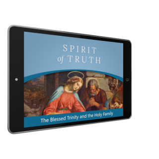 Kindergarten Digital App: The Blessed Trinity and the Holy Family